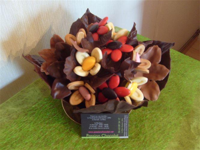 Bouquet fleur chocolat l 39 atelier des fleurs for Bouquet de fleurs homme