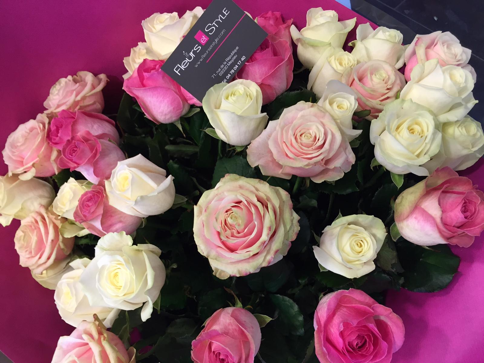 livraison roses domicile l 39 atelier des fleurs. Black Bedroom Furniture Sets. Home Design Ideas