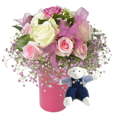 Fleurs naissance l 39 atelier des fleurs for Fleurs pour une naissance