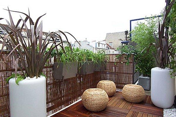 Amenagement de balcon exterieur l 39 atelier des fleurs - Amenagement balcon appartement ...