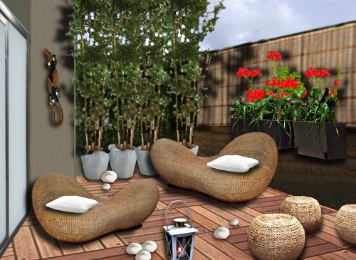 idee amenagement terrasse balcon l 39 atelier des fleurs. Black Bedroom Furniture Sets. Home Design Ideas