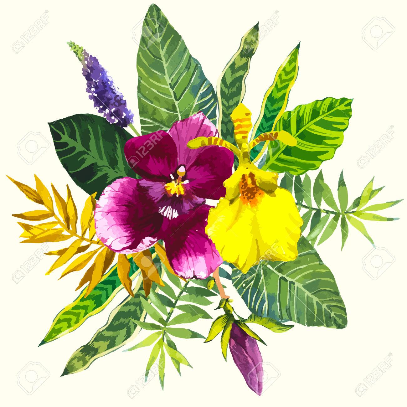 Une bouquet de fleur tropical ici l 39 atelier des fleurs for Beau bouquet de fleurs