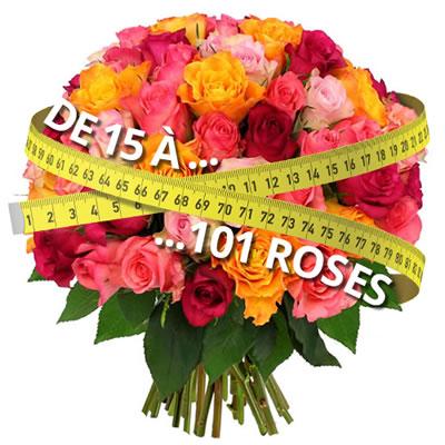 livraison 70 roses l 39 atelier des fleurs. Black Bedroom Furniture Sets. Home Design Ideas