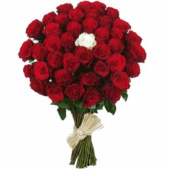 bouquet de roses blanches et rouges l 39 atelier des fleurs. Black Bedroom Furniture Sets. Home Design Ideas