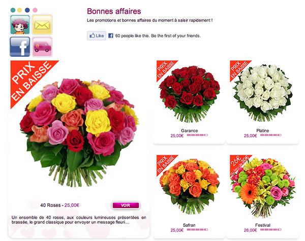 Envois fleurs pas cher l 39 atelier des fleurs for Abonnement fleurs pas cher