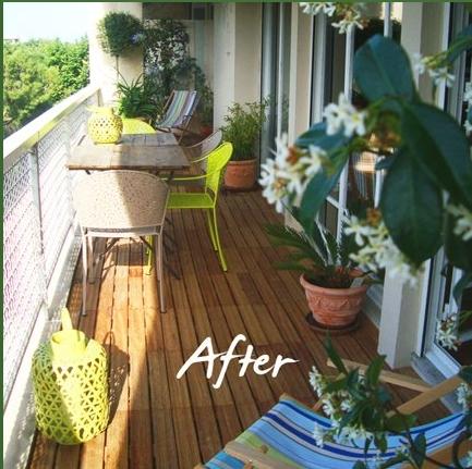 Agencement balcon l 39 atelier des fleurs - Agencement jardin ...